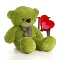 72in Ace Cuddles Lime Green Giant Teddy Bear Soft and Huggable