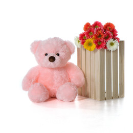 30in Cute Gigi Chubs Cotton Candy Pink Fur Stuffed Teddy Bear