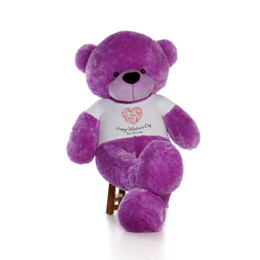 6ft Life Size Happy Valentine's Day Teddy Bears – Customize your fur color and shirt text choices!