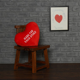 Personalized Greeting Heart Pillows: Made for Each Other and I Love You