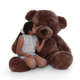 Brown teddy bear sweetheart  Big Chubs a 60in plush teddy bear