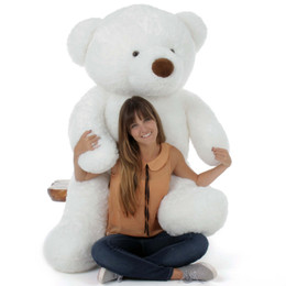5 Foot Huge Teddy Bear White Birthday Gift