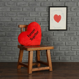 Personalized Greeting Heart Pillows: Forever Together and I Love You
