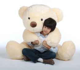 Smiley Chubs Life Size Smooth Vanilla Cream Teddy Bear 5ft