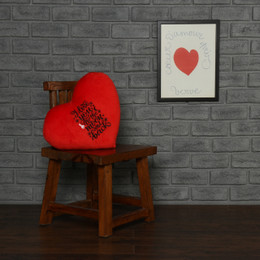 Personalized Greeting Heart Pillows: I Love You to the Moon and Back and The World Is Yours