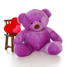 5ft Huge Life Size Purple Teddy Bear Lila Chubs