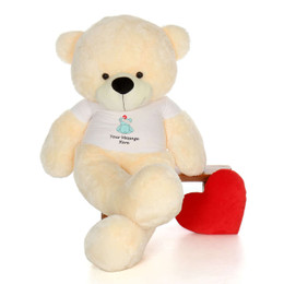 6ft Life Size Personalized Get Well Soon Teddy Bears – choose your favorite fur color