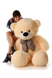 Cozy Cuddles Soft and Huggable Jumbo Cream Teddy Bear 60in One of the Biggest Teddy Bears!