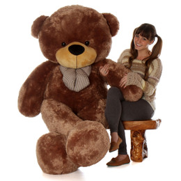 Sunny Cuddles Soft and Huggable Jumbo Mocha Brown Teddy Bear 72in