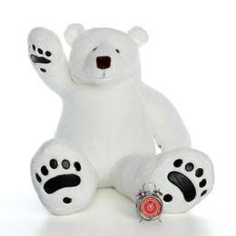 5ft Marshmallow Klondike Huge Stuffed Polar Bear