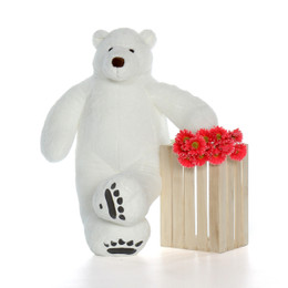 White Life Size Large Polar Bear 4 Foot