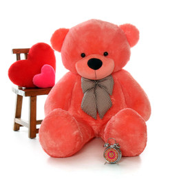 60in Bubble Gum Pink Life Size Teddy Bear