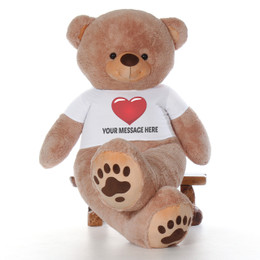 7 Foot Enormous Personalized Teddy & Hugs Giant Teddy Bear