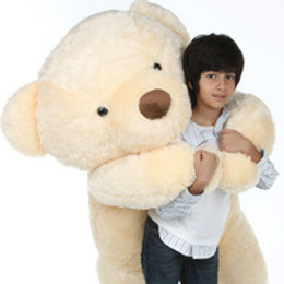 Smiley Chubs vanilla cream teddy bear 72in