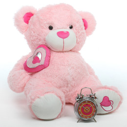 Cutie Pie Big Love Huggable Pink Teddy Bear 30in