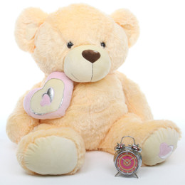 Honey Pie Big Love Lovable Butterscotch Cream Teddy Bear 42in