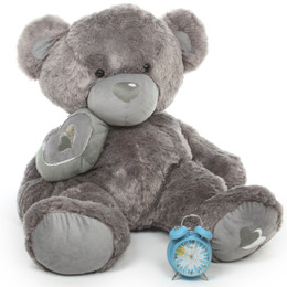 Snuggle Pie Big Love Large Cute Jumbo Silver Teddy Bear 42in
