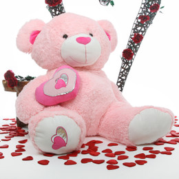 Cutie Pie Big Love Large Jumbo Pink Huggable Teddy Bear 47in