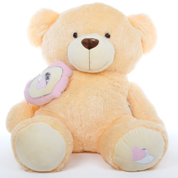 Honey Pie Big Love butterscotch cream teddy bear 47in