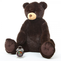 Baby Tubs Cuddly Large Chocolate Brown Plush Teddy Bear 42in