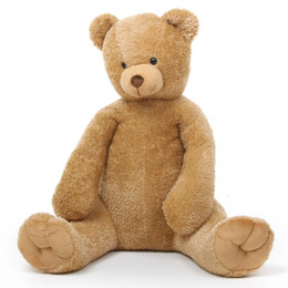 Honey Tubs Large Soft Plush Amber Teddy Bear 48in