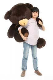 Big Papa Hugs Huggable Chocolate Brown Heart Teddy Bear 45in