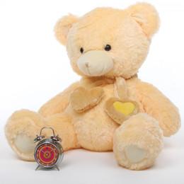Sweet Hugs Lovable Stuffed Cream Heart Teddy Bear 36in