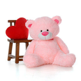 Adorable 45 Inch Huge Teddy Bear in Sitting Position