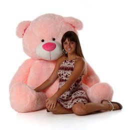 Lulu Shags Chubby and Huge Pink Teddy Bear 60in