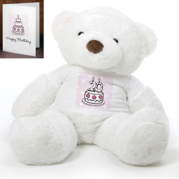 Pink Birthday Cake Chubs teddy bear 48in