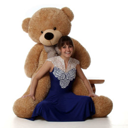 Shaggy Cuddles Soft and Huggable Giant Amber Teddy Bear 60in - Huge Teddy Bear Gift!