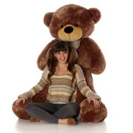 Sunny Cuddles mocha brown teddy bear 55in