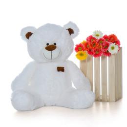 Waldo Shags Cute White Plush Teddy Bear 35in