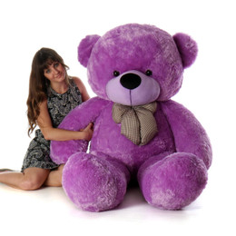 DeeDee Cuddles Gigantic Lilac PlushTeddy Bear 6 Ft