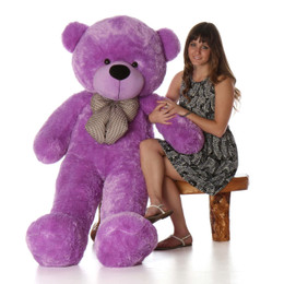DeeDee Cuddles Plush Giant Purple Teddy Bear 5 Ft