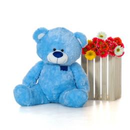 Marty Shags Cool Blue Plush Teddy Bear 37in