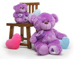 Sewsie Big Love lavender teddy bear 30in