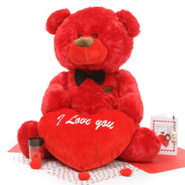 Bear Hug Care Package featuring Randy Shags Red 37in