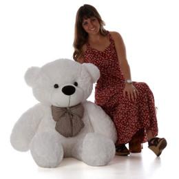 Coco Cuddles Huggable Plush White Teddy Bear 48in