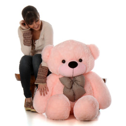 Lady Cuddles Super Soft Huggable Pink Teddy Bear 48in
