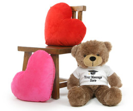 Cuddles Personalized Graduation Teddy Bear with T-Shirt 30in