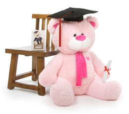 Lulu G Shags Giant Pink Graduation Teddy Bear 35in