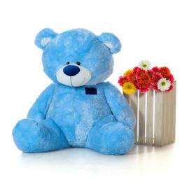 Marty Shags Cool Blue Plush Teddy Bear 45in