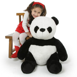 Mama Xin Huggable Black and White Stuffed Panda Teddy Bear 36in