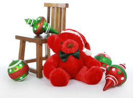 Riley Chubs is a sweet 30 inch red Christmas Teddy Bear in a cute Santa hat!