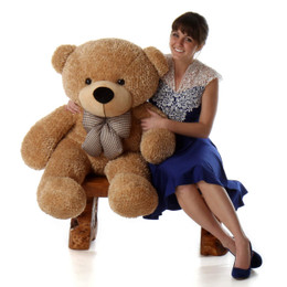 Shaggy Cuddles Soft and Huggable Amber Teddy Bear 48in