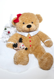 Sugar Gingerbread Cuddles 24 inch is so excited to find a new Christmas teddy bear home!