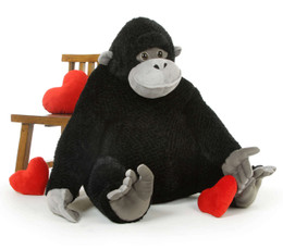 When you invite a big stuffed gorilla into your home be prepared for giant hugs!