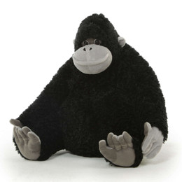 This small stuffed gorilla is built to withstand a lifetime of love and adventures!