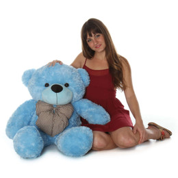 Happy Cuddles Soft and Huggable Sky Blue Teddy Bear 38in